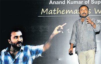 Mathematician Anand Kumar at the educational workshop at Bishop Cotton Boys' School organised by Deccan Herald and Prajavani on Saturday. Photo by BK Janardhan