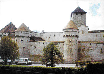 Poet's corner: Chillon Castle.  Photo by authors
