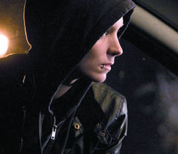 Transformed Rooney Mara as Lisbeth in 'The Girl With The Dragon Tattoo'.