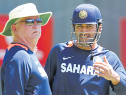 think tank: It remains to be seen if coach Duncan Fletcher and skipper MS Dhoni stick to the rotation policy and rest an in-form Gautam Gambhir. AFP