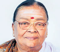 Veteran actress SN Lakshmi who died in Chennai on Monday. PTI