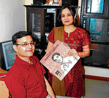 Recorded: Moloy Ghosh with his wife Chandrani.