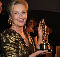Meryl Streep, winner of Best Performance by an Actress in a Leading Role for