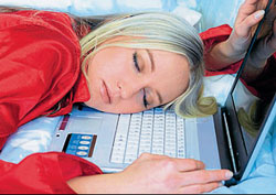 Exhausted : Youngsters  are no longer fascinated by social networking sites.
