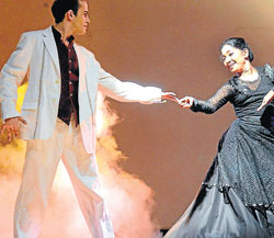 Eye catching : A glimpse of Indo-French dance ballet.