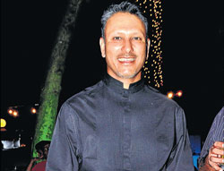 Excited : Jeev Milkha Singh DH Photo by B K Janardhan