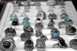 new craze Silver rings at a shop in Greater Kailash-I.