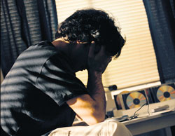 Disturbed : Stress can be one of the reasons for sleeping disorder.