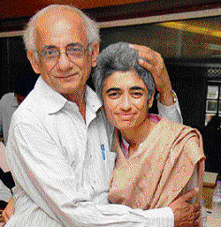 Shalini Arora with her father