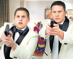 awesome twosome: A scene from the movie 21 Jump Street.