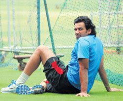 Pace spearhead Zaheer Khan is looking forward to series against England and Australia. DH Photo