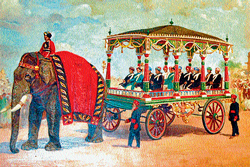 A DH file photo of the painting of 'Aane Gaadi' that would be recreated at the Dasara flower show this year.
