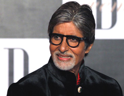 Bollywood actor Amitabh Bachchan arrives for a party on the eve of his 70th birthday in Mumbai, on Wednesday. AP