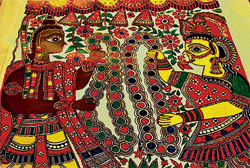 Madhubani finds its way to a mall ceiling