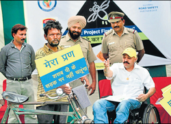 Drive underway in Punjab to check users of non-motorised vehicles from drinking and riding.