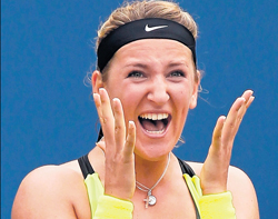 QUEEN ON COURT: Belarusian Victoria Azarenka has assured the year-end world no 1 ranking. AFP