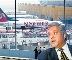 Kingfisher's fleet has been grounded since the beginning of the month when a staff protest turned violent. AP