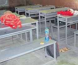 The classroom where Ajay Pramod Jadhav tried to immolate himself. DH Photo