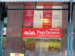 Page Turners outlet on MG Road. DH Photo