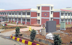 A view of the Academic Block of Sainika school in Koodige near Kushalnagar.
