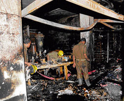 Major fire at shoe factory