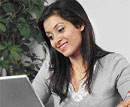 Cheerful women not associated with leadership qualities