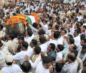 V C Shukla cremated with full state honours