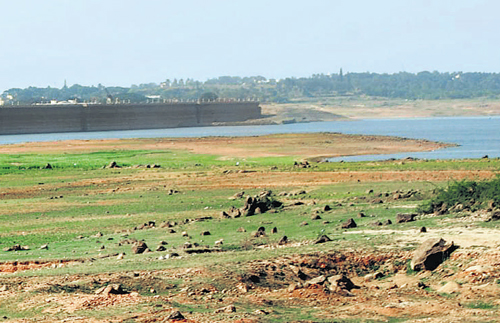 Water level in KRS dips to the lowest in 10 years
