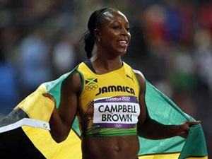 Campbell-Brown tests positive