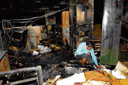 BSNL office catches fire