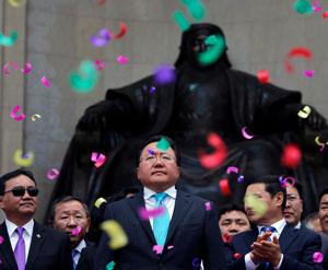 Mongolia president invokes Genghis Khan in election win