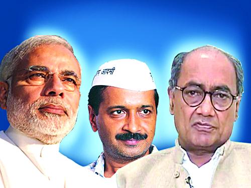 Most netizen talking negative about Modi, Kejriwal & Digvijay