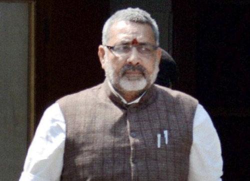 FIR against Giriraj for 'go to Pak' remark; BJP upset