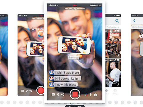 Now, video-stream from your smartphone, live