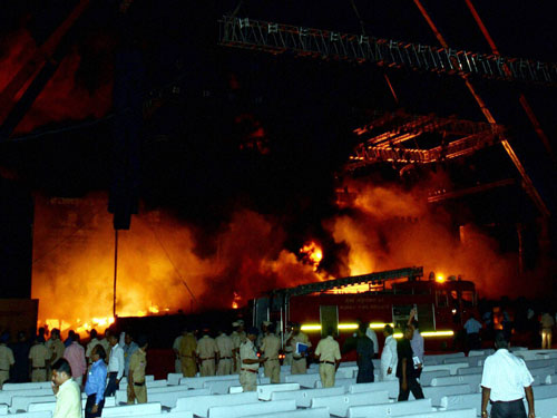 Pvt fire marshals deployed at 'Make in India' event