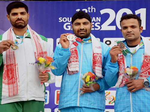 Boxers, shooters' golden sweep keeps India on top at SAG
