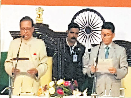 Kalikho Pul takes oath as Arunachal chief minister