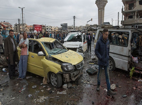 Double car bombing kills 46 in Syria's Homs: monitor