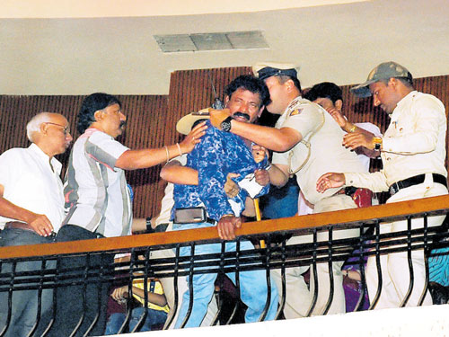 'Drunk' man throws packet of chocolates at CM