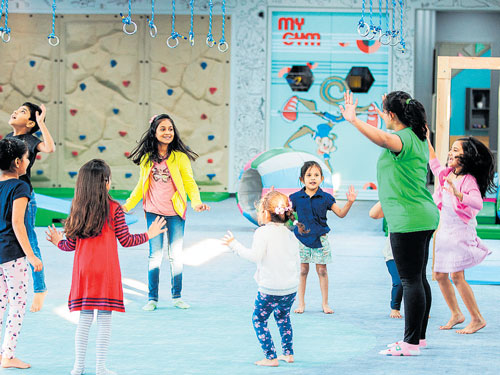 Gym for the children, but with a difference