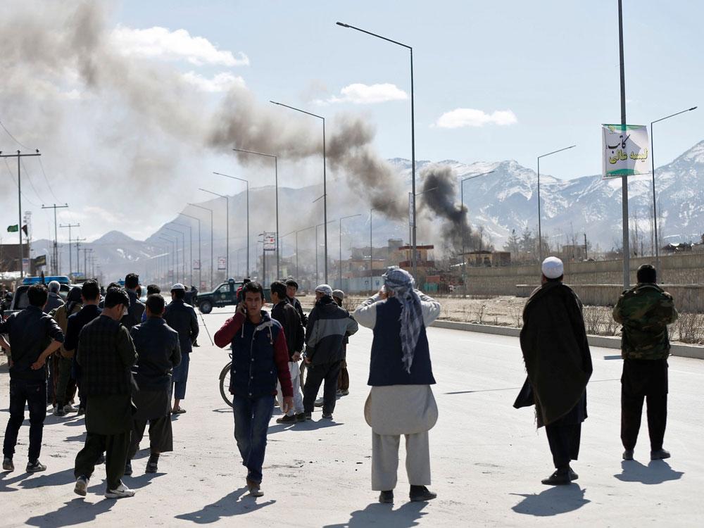 Blasts, gunfire rock Afghan capital