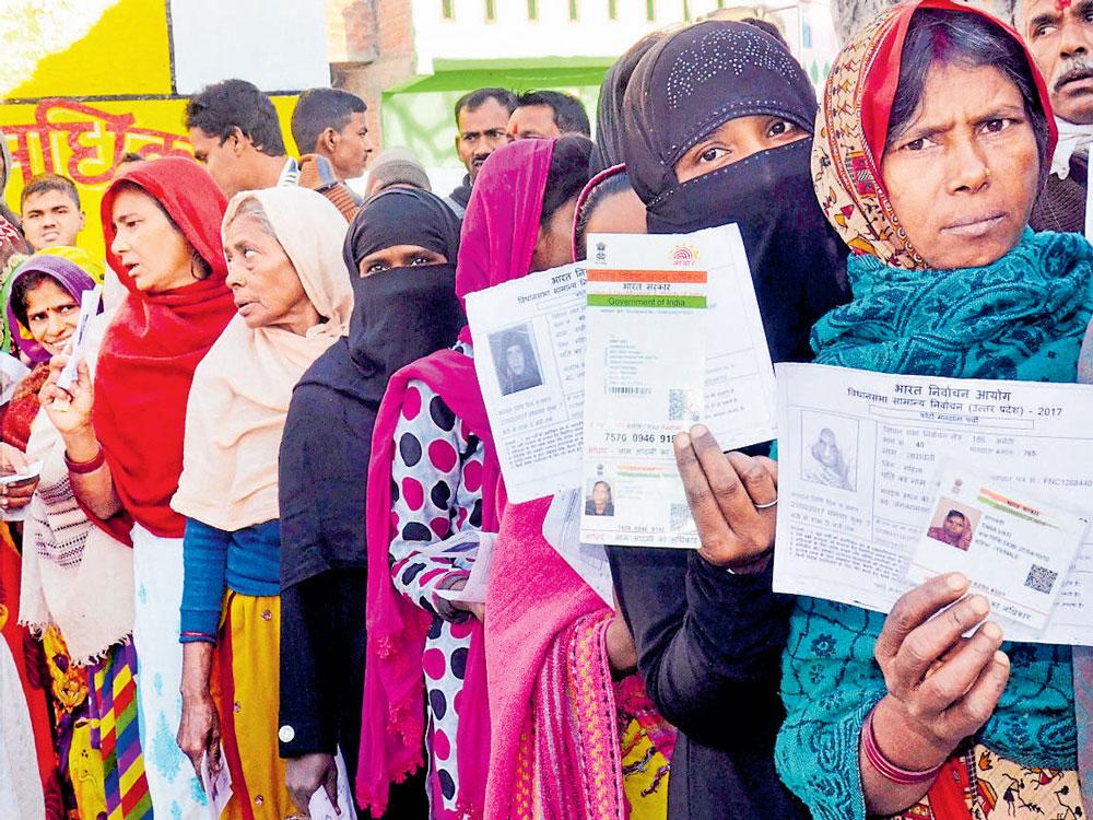 Deploy women police to examine burqa-clad voters: BJP to EC