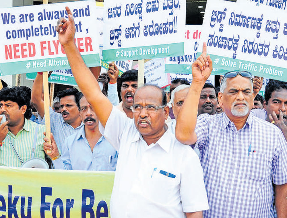 North B'luru residents oppose scrapping of steel flyover