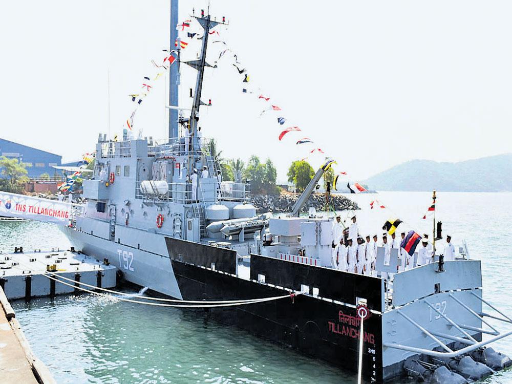 Navy commissions INSTillanchang at Seabird naval base in Karwar