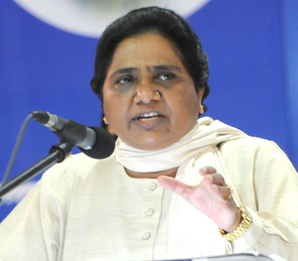 Mayawati says EVMs tampered with, seeks re-election