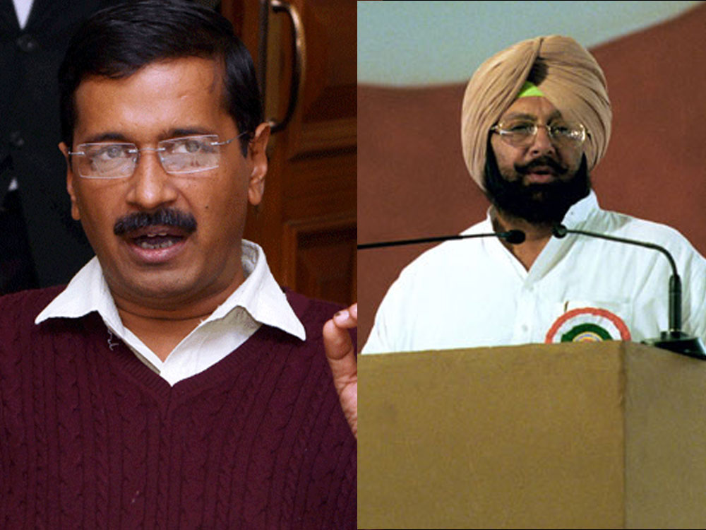 Amarinder, Sidhu take jibes at Kejriwal after Punjab win