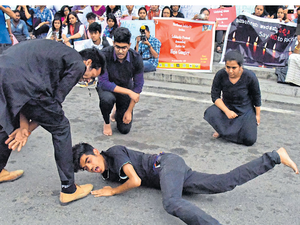 Protesters express solidarity with Arunachal youth