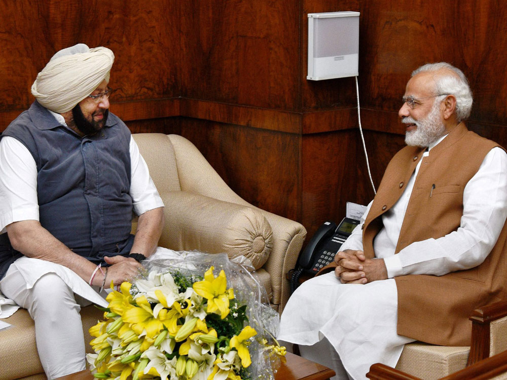 Amarinder Singh seeks help from Centre for farm loan waiver