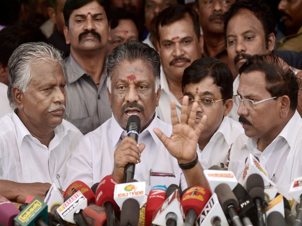 OPS faction candidate files nomination from R K Nagar