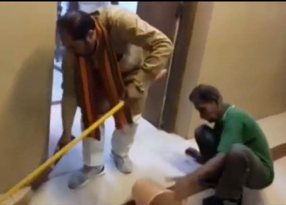 Watch: Armed with broom, UP Minister cleans office, corridor